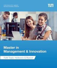 Master in  Management & Innovation - TUM Track: Heilbronn & Munich