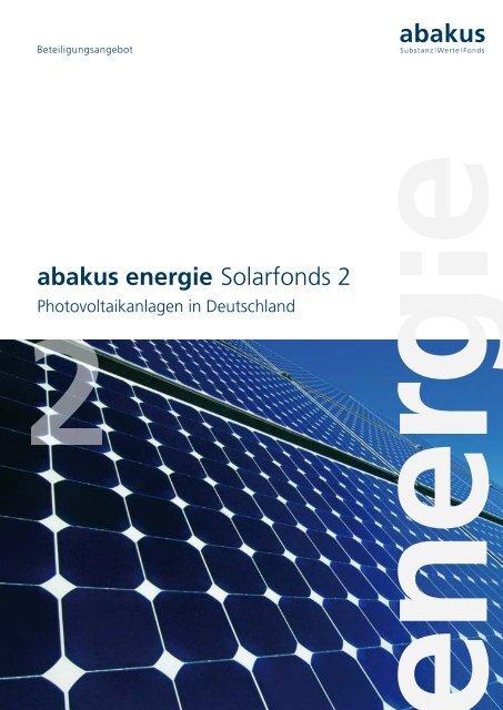 abakus energie Solarfonds 2 - Fondsvermittlung24.de
