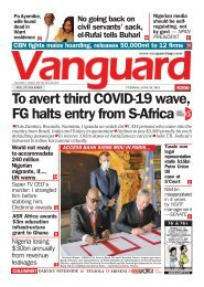 29062021 - To avert third COVID-19 wave, FG halts entry from S-Africa