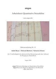 Arbeitskreis Quantitative Steuerlehre - arqus