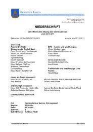 NIEDERSCHRIFT - Gemeinde Axams - Land Tirol