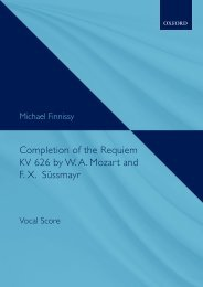 Michael Finnissy - Completion of the Requiem KV 626 by W. A. Mozart and F. X. Süssmayr (Vocal score)