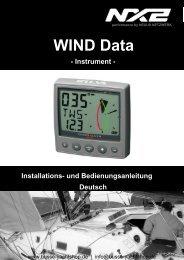Installations- und Bedienungsanleitung WIND Data - Busse-Yachtshop