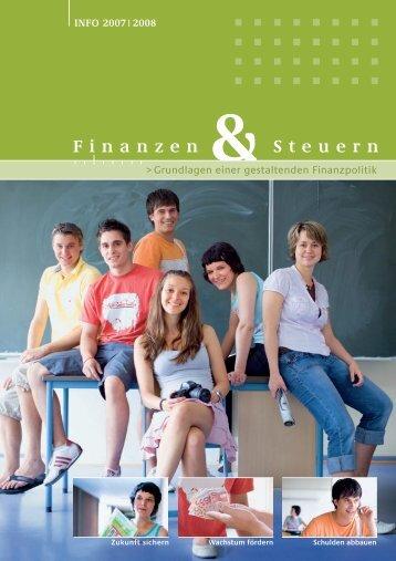 INFO 2007 2008 Finanzen Steuern - Jugend und Bildung