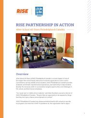 RISE Partnership in Action: After School All Stars