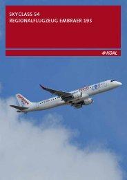 skyclass 54 regionalflugzeug embraer 195 - Finest Brokers GmbH