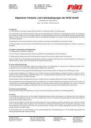 Allgemeine Verkaufs- und Lieferbedingungen der EtiKS GmbH