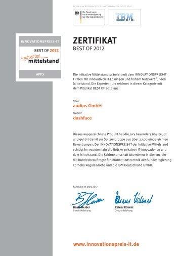 Zertifikat Initiative Mittelstand