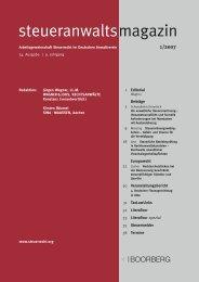 steueranwaltsmagazin Heft 1 2007 - Wagner-Joos Rechtsanwälte