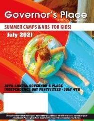 Governors Place July 2021