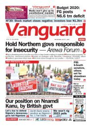 01072021 - Hold Northern govs responsible for insecurity — Arewa Forum