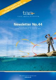 Newsletter No.44 als PDF - TAA Travel Agency Accounting GmbH