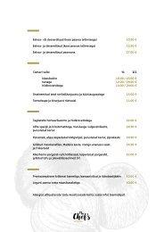 The Chefs Kitchen MEGASTAR spring-summer menu 2021