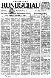 Lausitzer Rundschau vom 2. Januar 1953