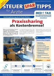 STEUER TIPPS - Team Jünger Steuerberater - Die Ärztespezialisten