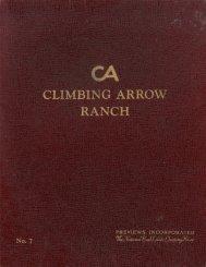 1959 Climbing Arrow Ranch Offering Brochure