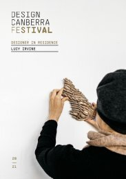 Lucy Irvine: 2021 DESIGN Canberra designer-in-residence