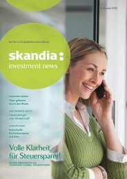 Skandia Investment News Magazin