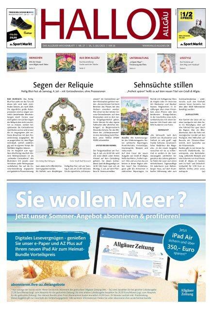Hallo-Allgäu  vom Samstag, 03.Juli