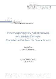 Steuerunehrlichkeit, Abschreckung und soziale Normen - Stiftung ...