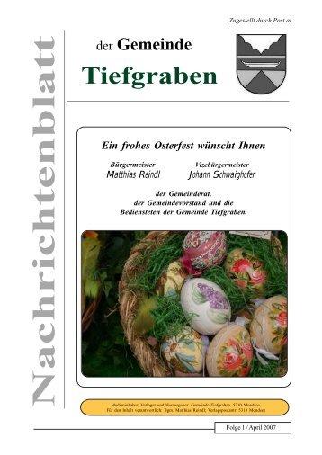 Folge 2 / April 2007 - Tiefgraben