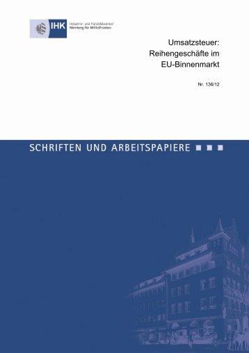 Umsatzsteuer: Reihengeschäfte im EU-Binnenmarkt - IHK Nürnberg ...