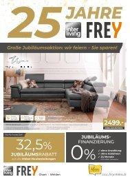 Interliving Frey - Vollsortiment-Prospekt - 25 Jahre Jubi
