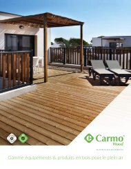 Gamme équipements & produits en bois pour le plein air