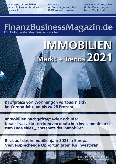 FinanzBusinessMagazin IMMOBILIEN Markt+Trends 2021