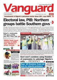 07072021 - Electoral law, PIB: Northern groups battle Southern govs
