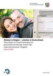 Wohnen in Belgien – arbeiten in Deutschland. Steuertipps im ...