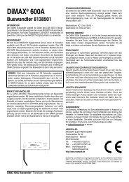 DiMAX® 600A Transducer 8138501 - Massoth Elektronik GmbH