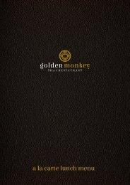 Golden Monkey - À la carte Lunch menu