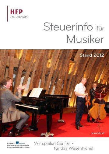 Steuerinfo für Musiker - HFP Steuerberater