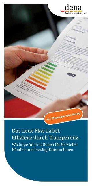 Das neue Pkw-Label: Effizienz durch Transparenz.