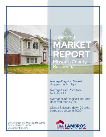 Missoula County Residential Report June 2021