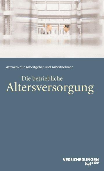 Betriebliche Altersvorsorge - Steuerberater Michael Schröder