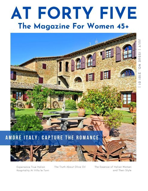 Amore Italy: Capture The Romance AT FORTY FIVE Magazine Issue 2021 01