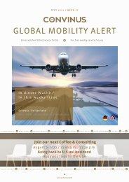 CONVINUS Global Mobility Alert - Week 27
