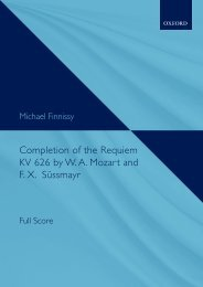 Michael Finnissy - Completion of the Requiem KV 626 by W. A. Mozart and F. X. Süssmayr (Full score)