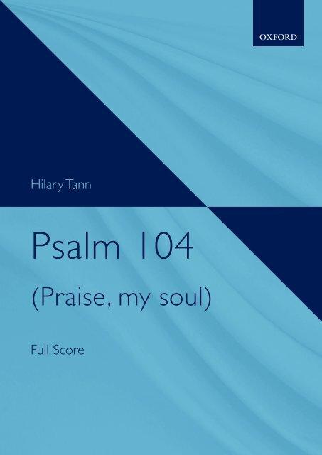 Hilary Tann - Psalm 104