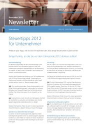 Newsletter - Moore Stephens City Treuhand