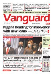 09072021 - Nigeria heading for insolvency with new loans —EXPERTS