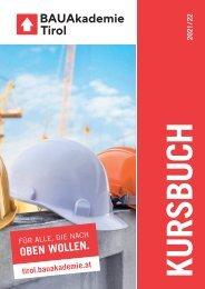 Bauakademie Tirol Kursprogramm 2021-22