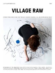 Village Raw - Issue 13 - July to September 2021