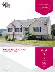 408 Arabela Court Marketing Flyer