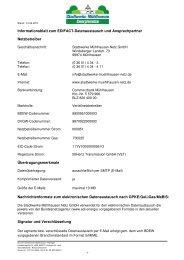 Informationsblatt zum EDIFACT-Datenaustausch und Ansprechpartner