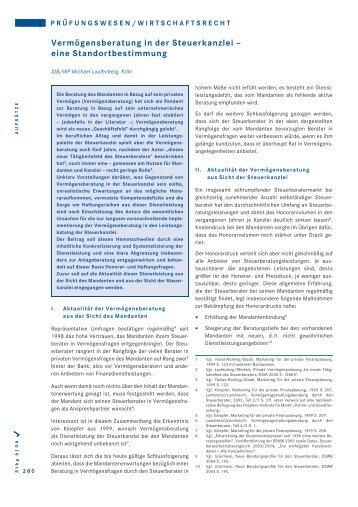 Vermögensberatung in der Steuerkanzlei - Laufenberg Michels und ...