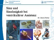 Sinn und Sinnlosigkeit bei ventrikulärer Assistenz - Klinik für Herz ...