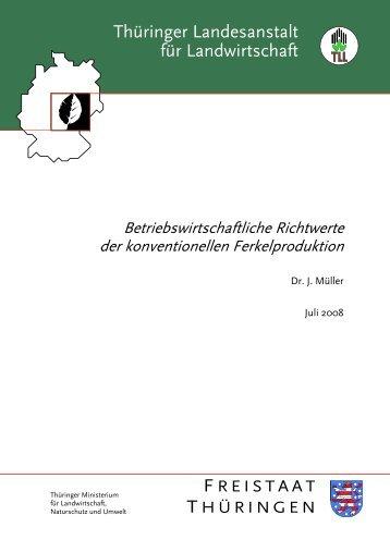 konventionellen Ferkelproduktion - Thüringer Landesanstalt für ...